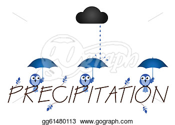 Vector Clipart   Precipitation Twig Text Isolated On White Background