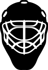 Black And White Hockey Helmet Clip Art