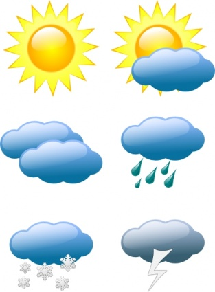 Ceda02f9f19fc343608ed293612887b3 Weather Symbols Clip Art