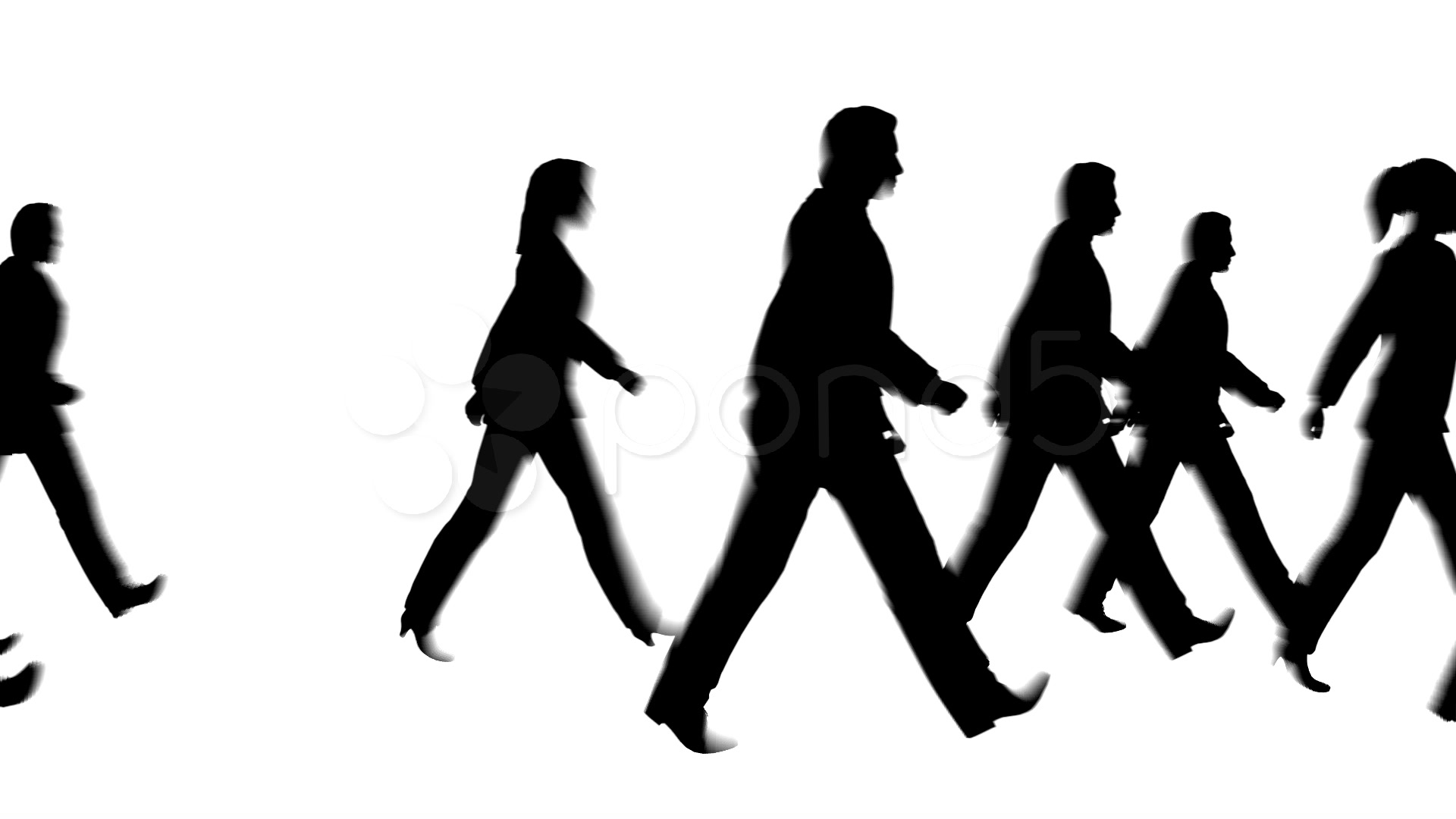 Silhouette People Walking Clipart - Clipart Suggest