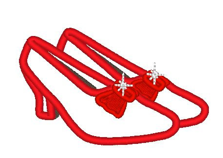 Red Shoe Dorothy Clipart