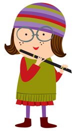 Flute Player Girl Cartoon Images   Pictures   Becuo
