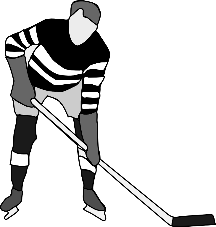 Go Back   Gallery For   Hockey Clipart Black And White
