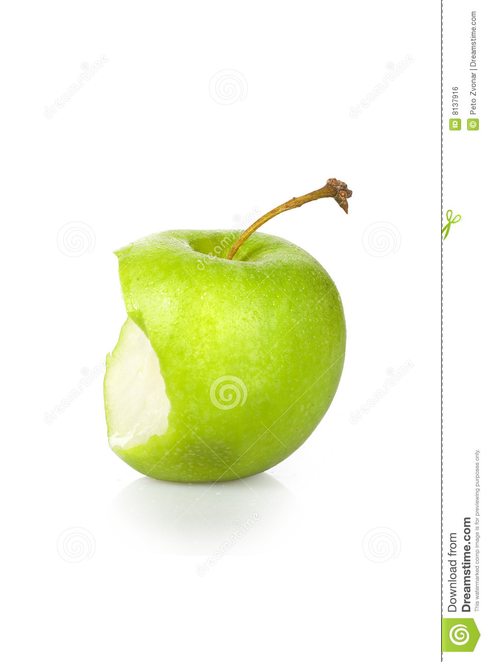 Green Apple Core Royalty Free Stock Image   Image  8137916