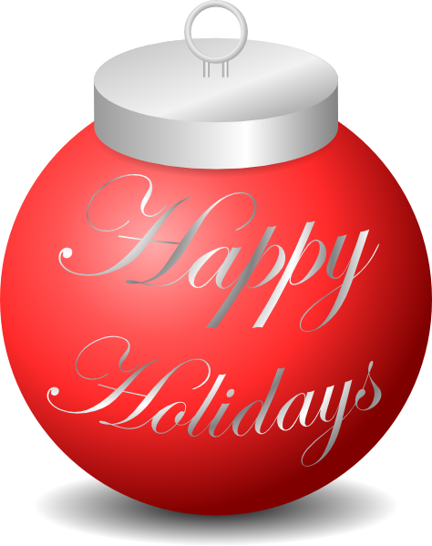 Happy Holidays Ornament Clip Art At Clker Com   Vector Clip Art Online