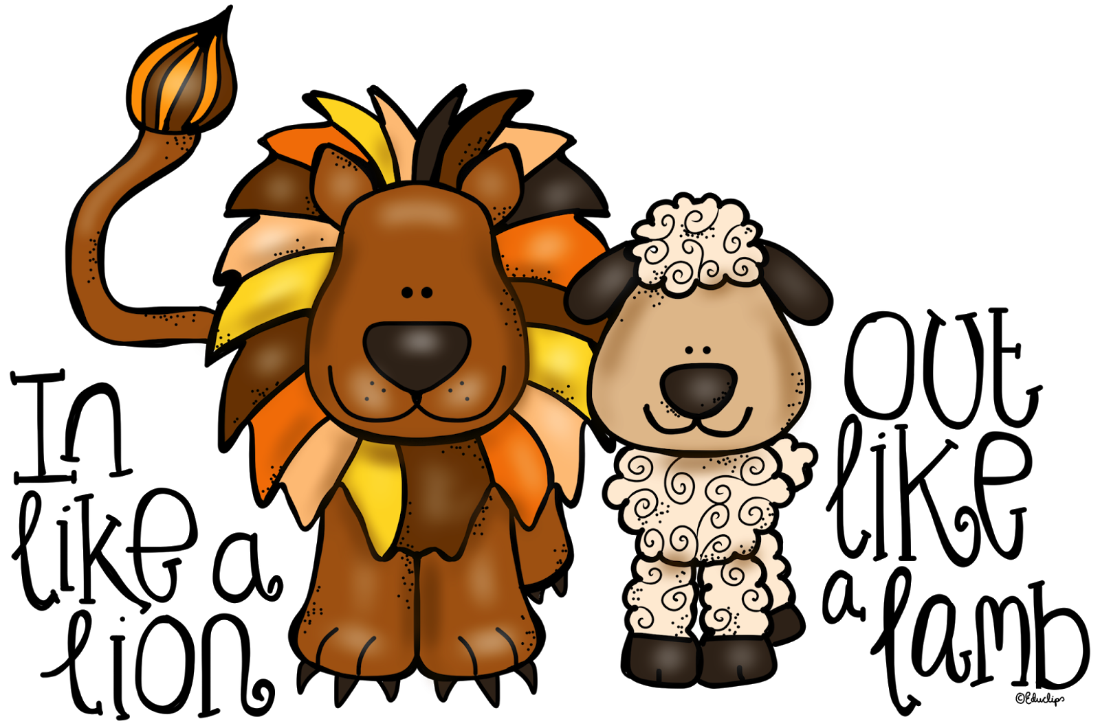 Image result for march lion and lamb clip art