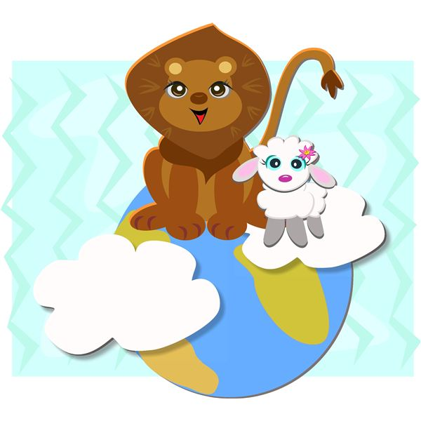 March Lion Lamb Clip Art March Weather