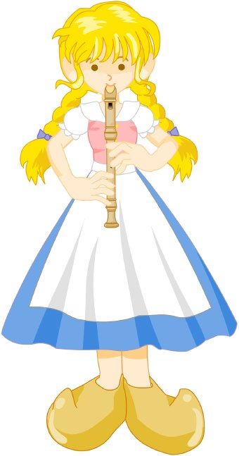 Recorder Player Clip Art