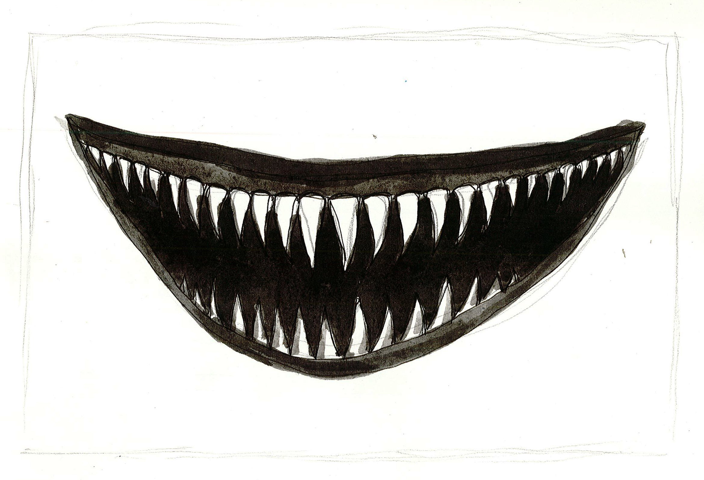 It is a picture of Intrepid Scary Mouth Drawing