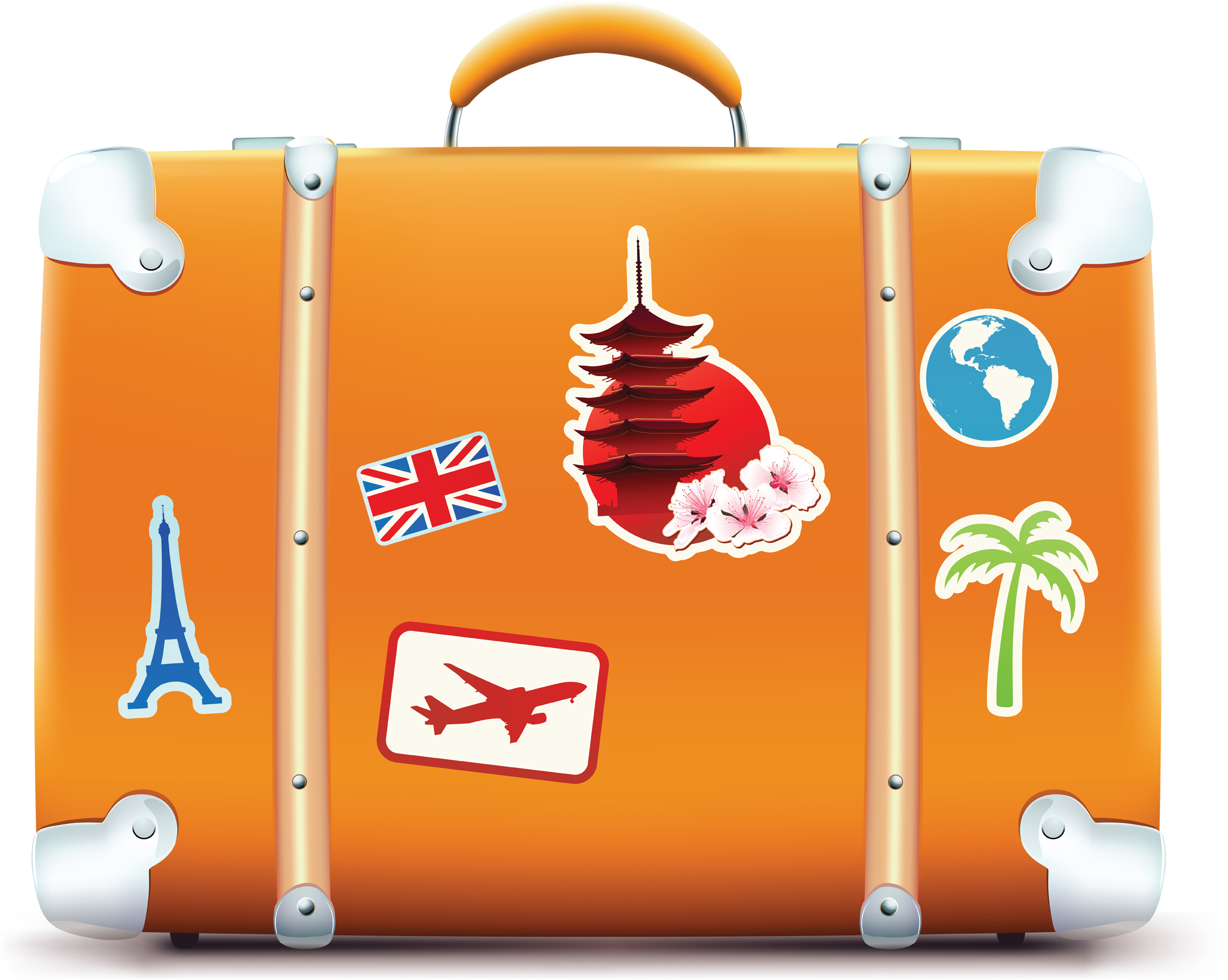 Travel Suitcase Clipart - Clipart Kid