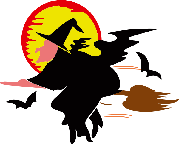 Witch Over Harvest Moon Svg Downloads   Art   Download Vector Clip Art