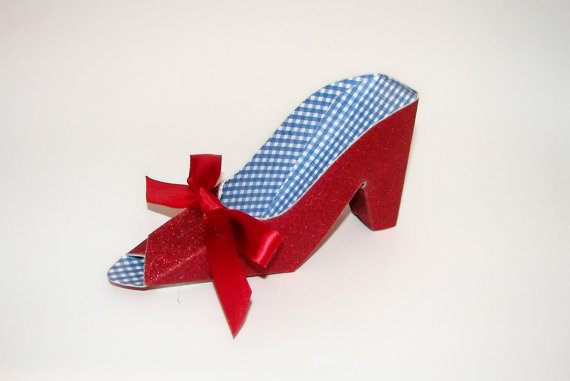 Wizard Of Oz Paper Shoe Dorothy S Ruby Slipper Gift Box Favor Box By A