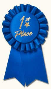 1st Place Ribbon Clip Art Blue Ribbon First Place Award