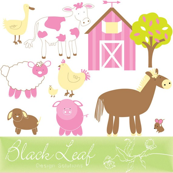 Barn Fun   Farm Animals Cute Barn Animals Sheep Rooster Chick Cow