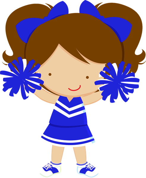 Blue And Orange Cheer Clipart - Clipart Kid