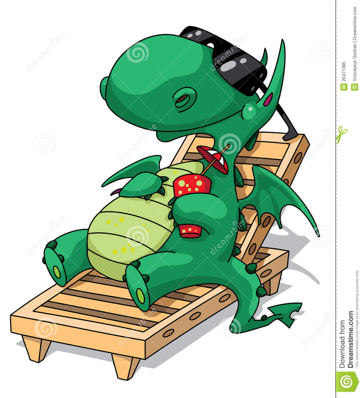 Funny Relaxation Dragon Royalty Free Stock Photo   Image  20471385