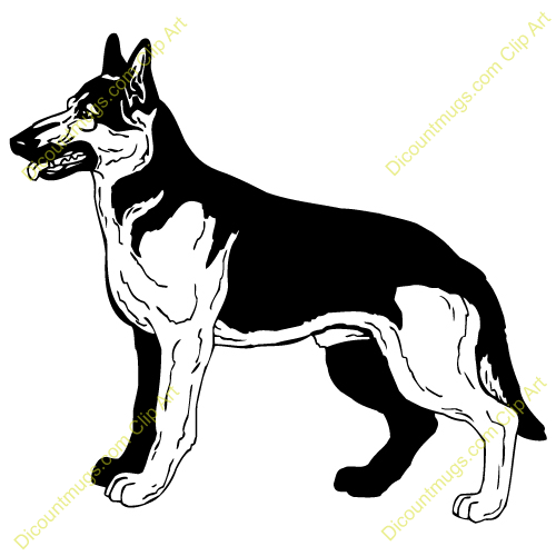 German Shepherd Free Clip Art Images   Pictures   Becuo