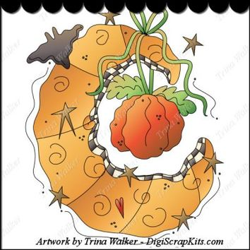 Harvest Moon 1a Clip Art Single Digi Scrap Kits Trina Walker  Clark