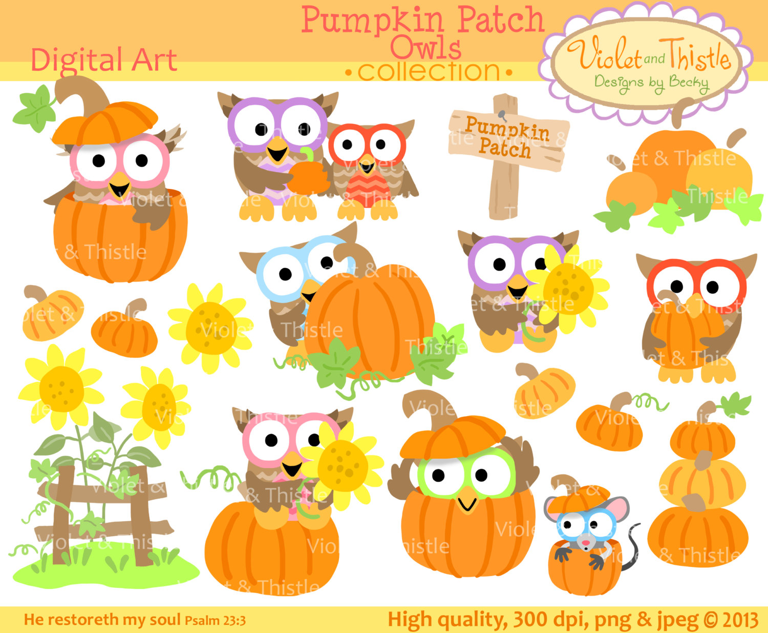 Harvest Owl Clipart Harvest Owl Clip Art Fall By Violetandthistle