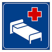 Hospital Sign   Royalty Free Clip Art