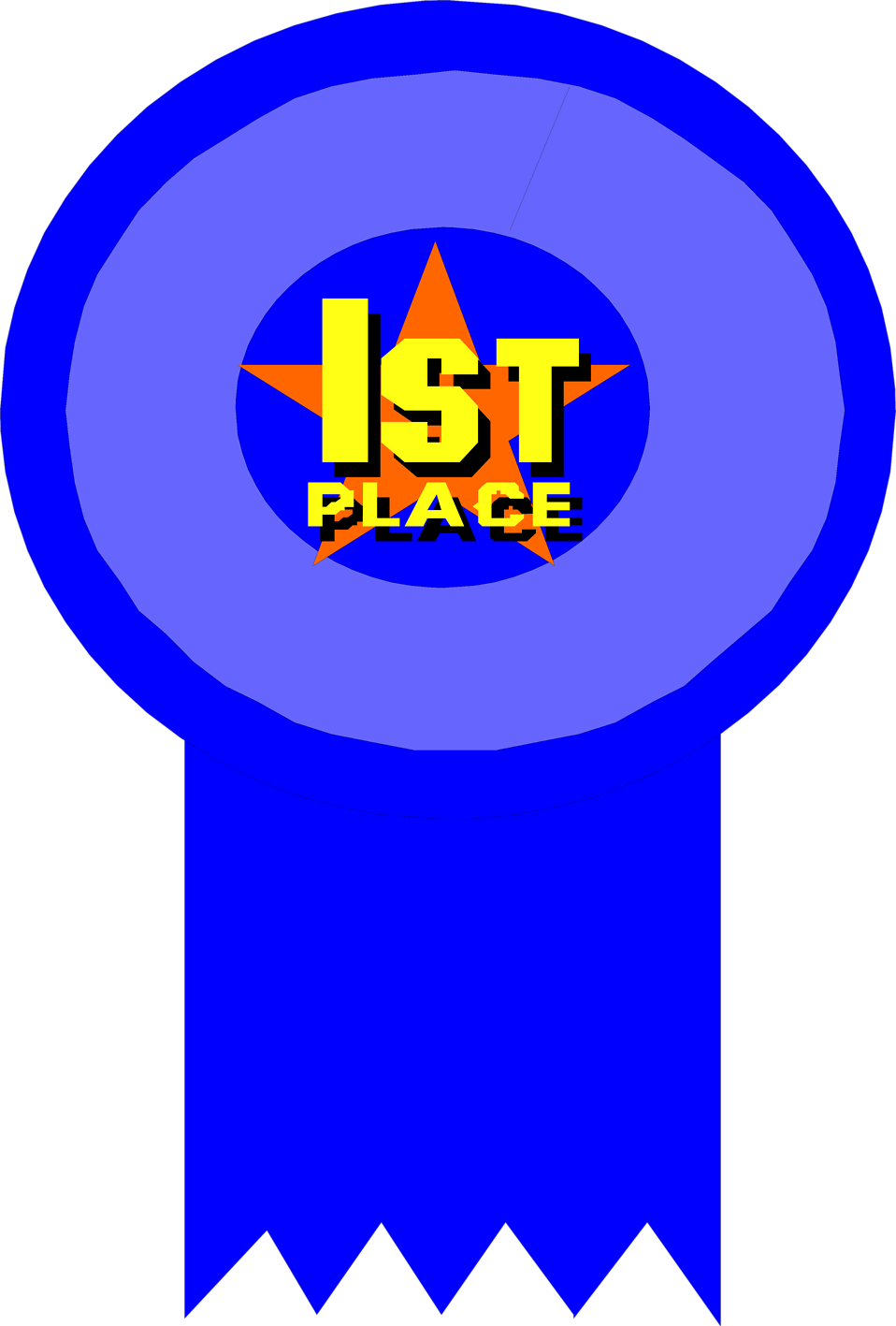Illustration Of A 1st Place Ribbon   Free Stock Photo