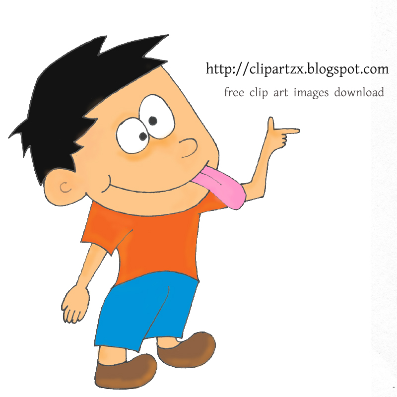 Image Caption  Clip Art Depot  Cartoon Boy Sticking His Tongue Out