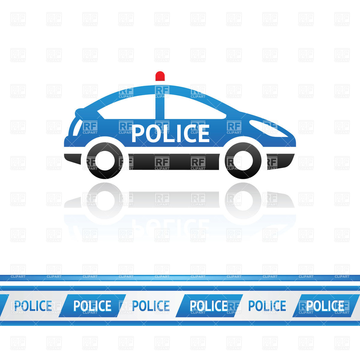 Police Car In Motion Clipart - Clipart Kid