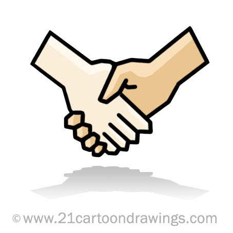 Shaking Hand Clip Art This Cartoon