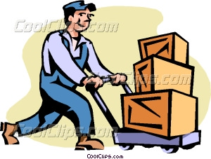 Shipping And Receiving Vector Clip Art
