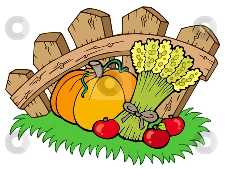 With Harvest Stock Vector Clipart Thanksgiving Motive With Harvest