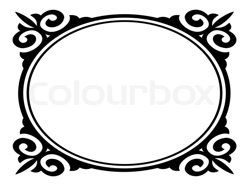 3601610 Vector Oval Ornamental Decorative Frame Jpg