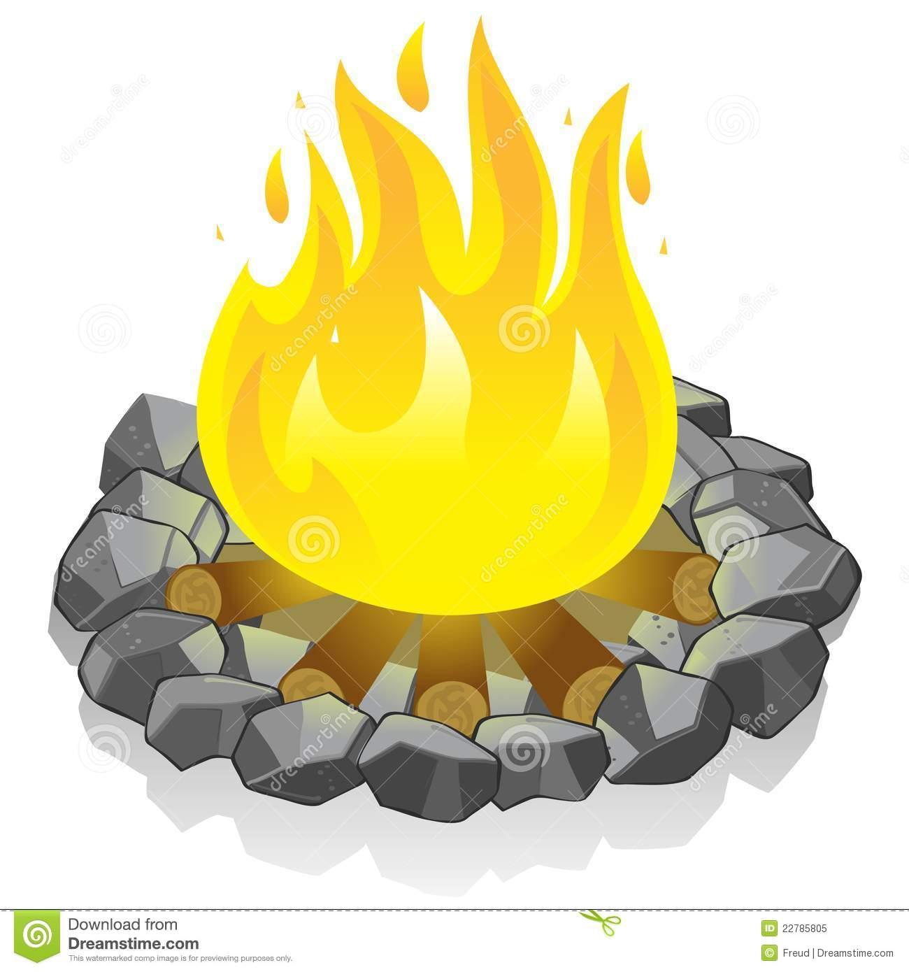 Beach Bonfire Clip Art...