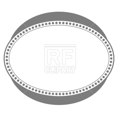 Borders And Frames   Oval Frame Download Royalty Free Vector Clipart