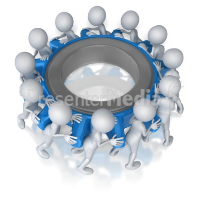 Figure Team Turning Gear   Science And Technology   Great Clipart