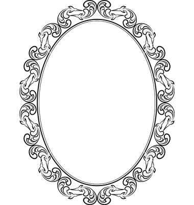 Frame Oval Vector Art   Download Vignette Vectors   1176284