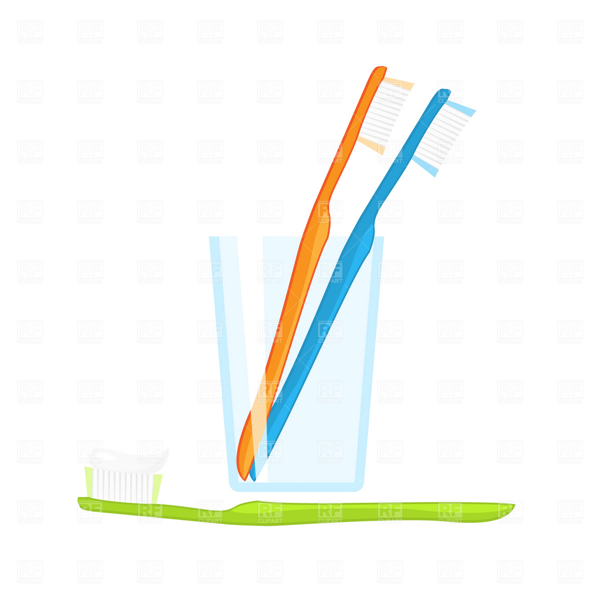 Free Clip Art Toothbrush And Toothpaste