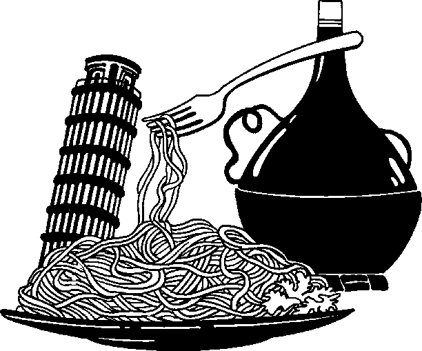 Italian Food Clipart Black And White Images   Pictures   Becuo
