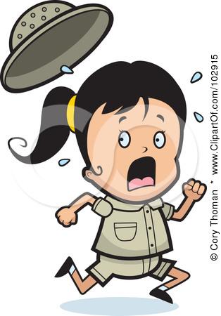 Little Girl Running Clipart - Clipart Kid
