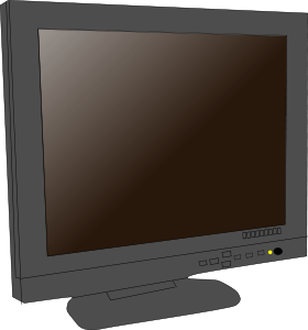 Monitor Lcd Clipart Vector Clip Art Online Royalty Free Design