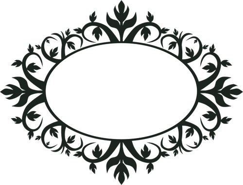 Ornamental Oval Frame Vector Clip Art   Public Domain Vectors