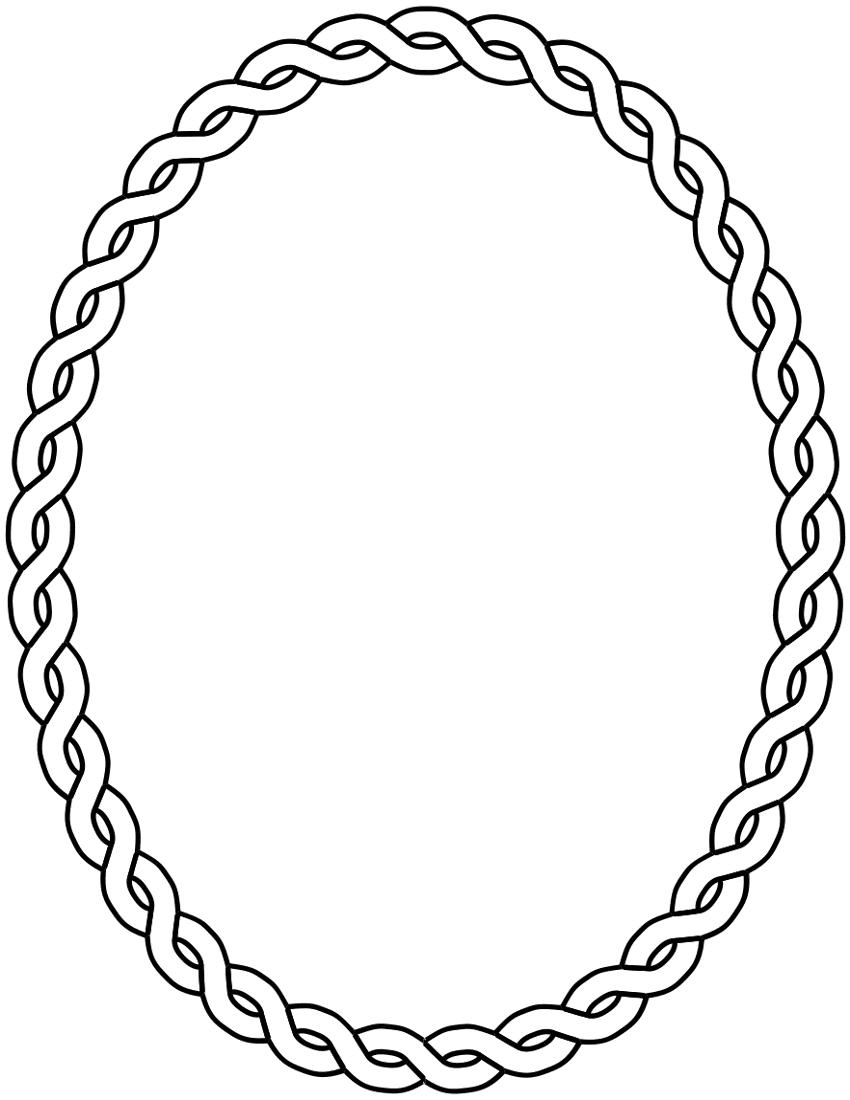 clip art oval frames free - photo #45