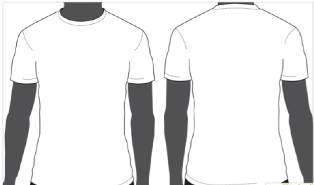white shirt front back clipart clipart suggest
