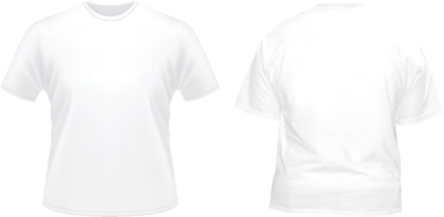 White shirt front back clipart clipart suggest for White t shirt template front and back