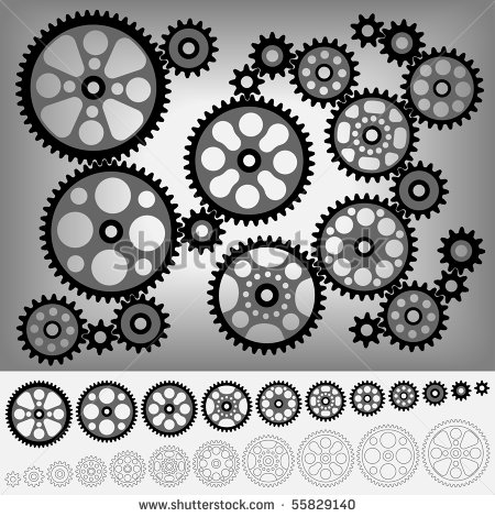 Same Size Of Gear  Stock Vector Illustration 55829140   Shutterstock
