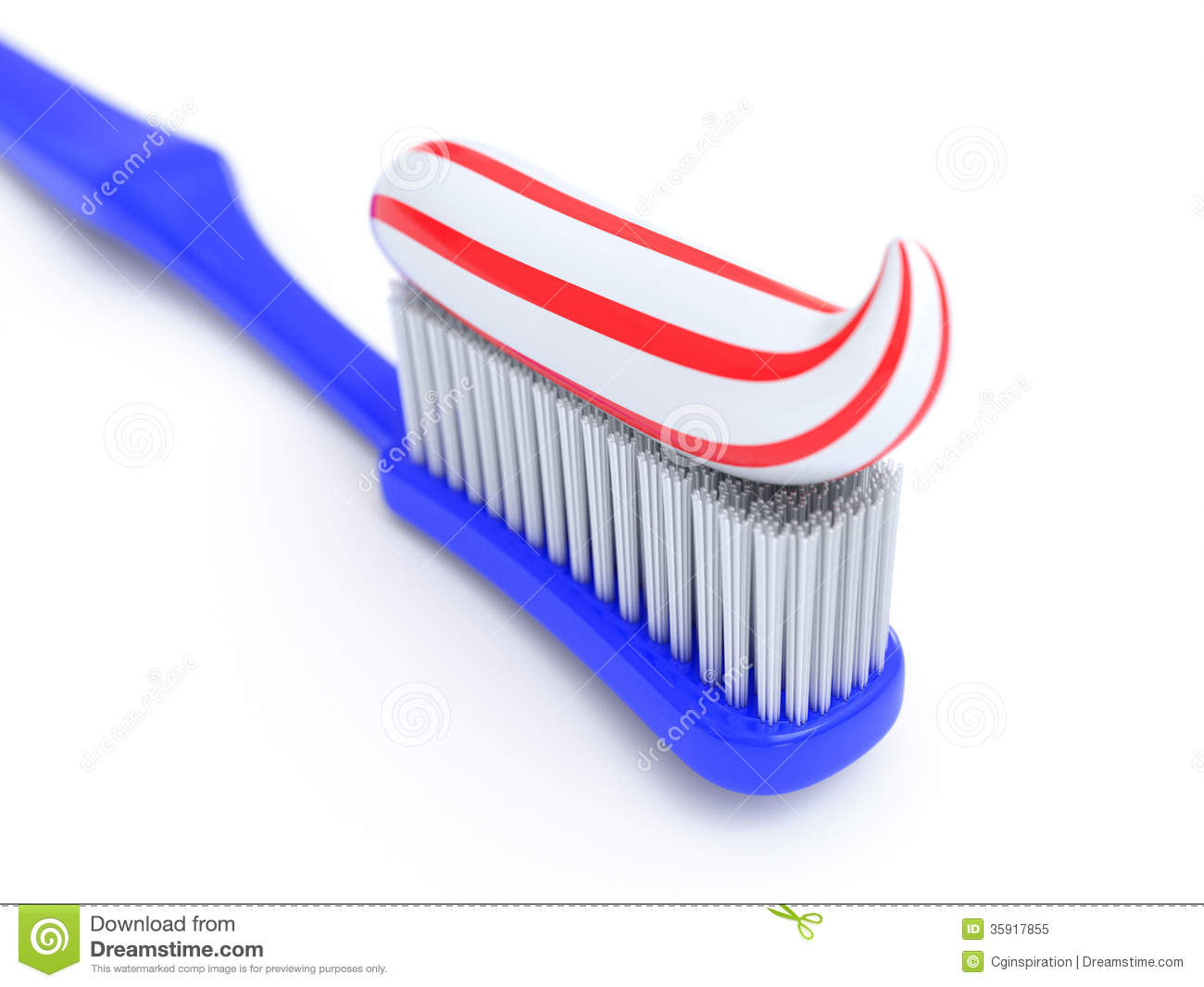 Toothbrush And Toothpaste Royalty Free Stock Photo   Image  35917855