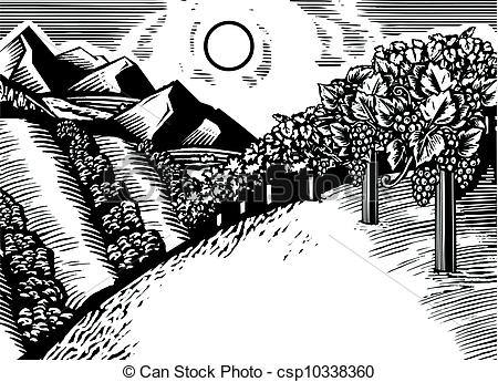 Valley Clip Art Black And White A Black And White Landscape