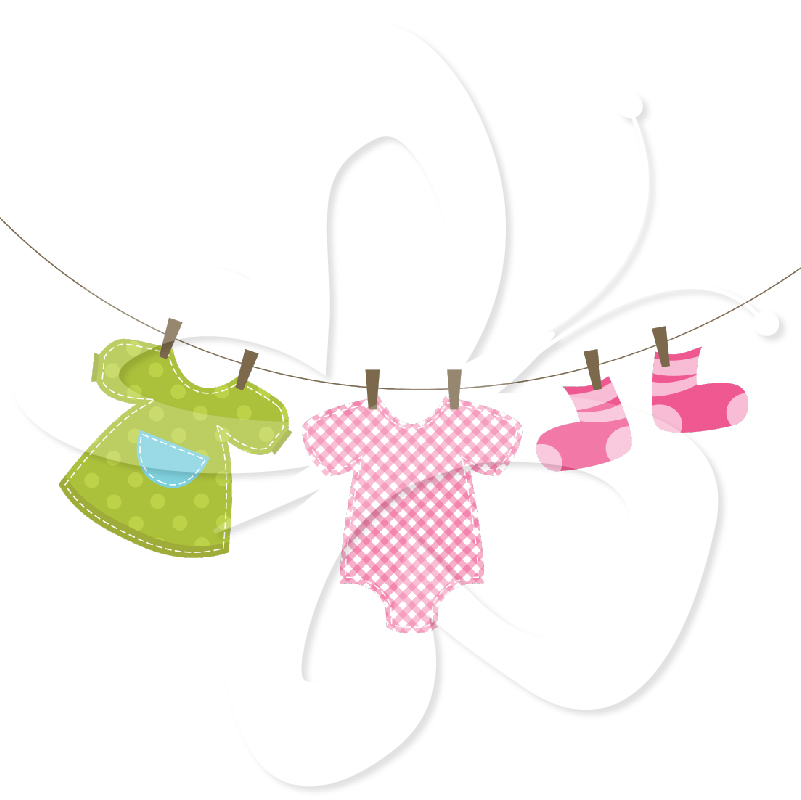 Baby Clothes Line Clip Art Quotes