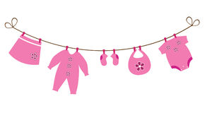 Baby Girl Clothesline Clipart - Clipart Kid
