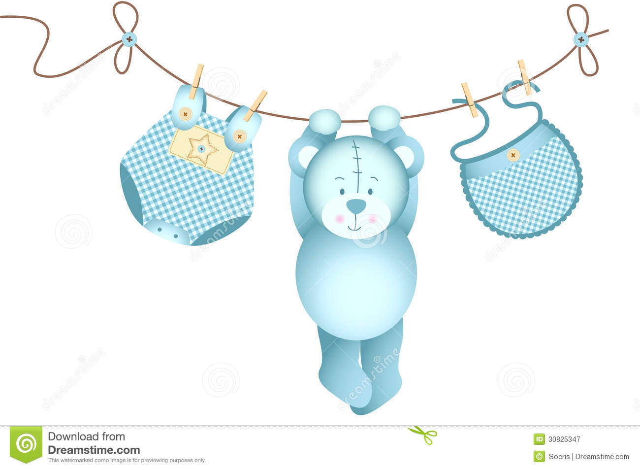 Baby Clothesline Clip Art   Invitation Templates