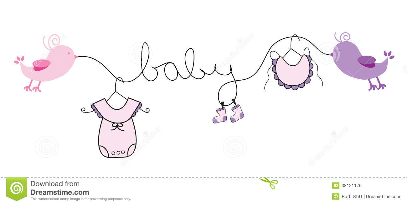 Baby Girl Pink Clothes Line